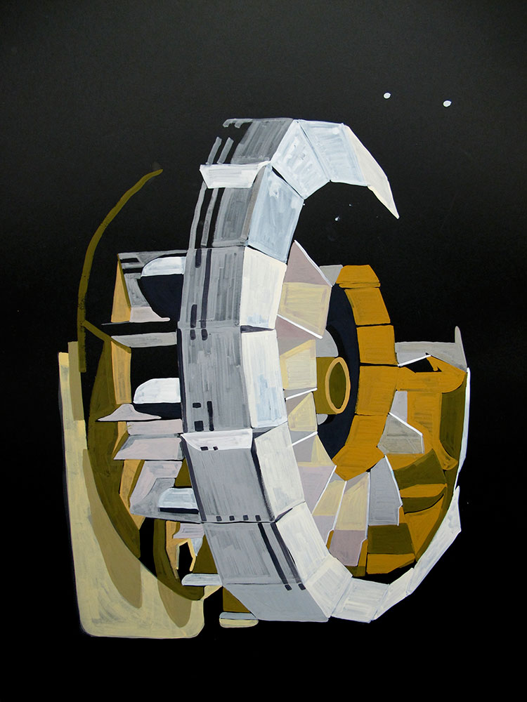 Carousel, gouache on card, 2011