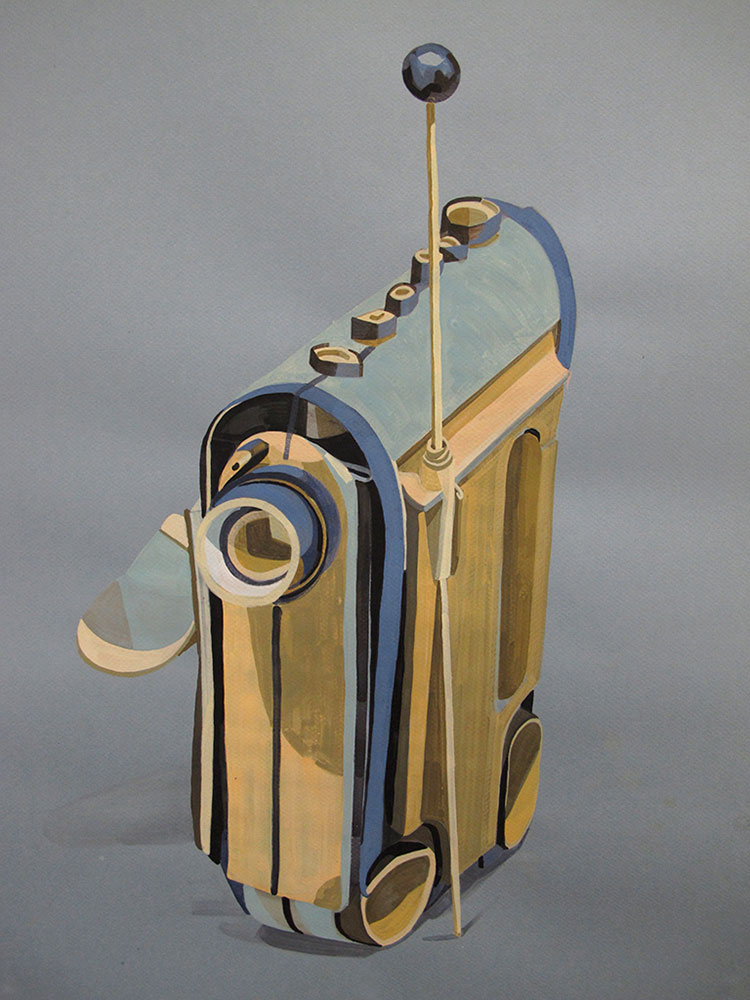 Carriage, gouache on paper, 2011
