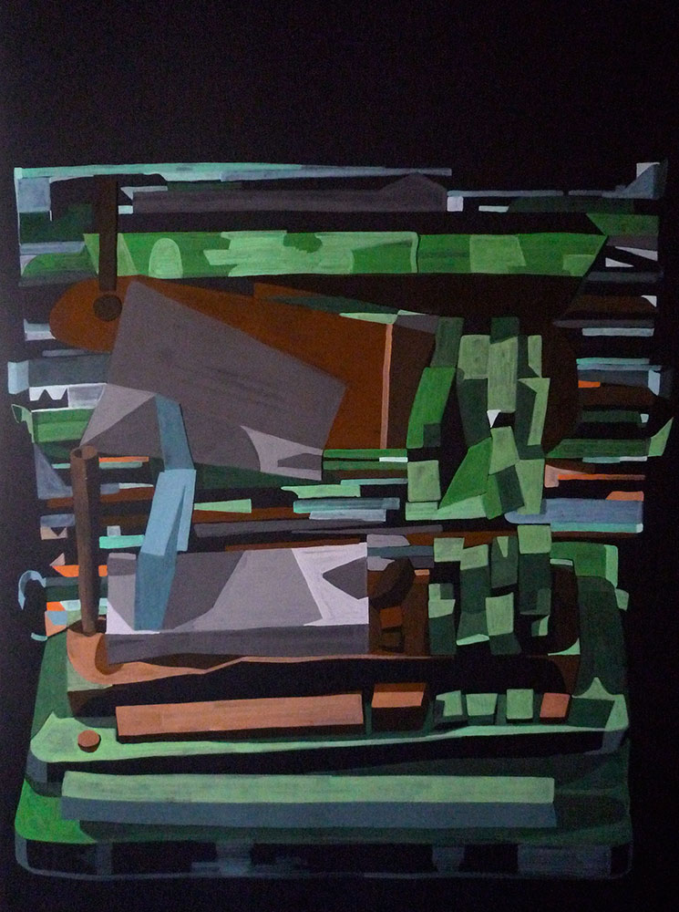 Toppal (Green), gouache on card, 2011