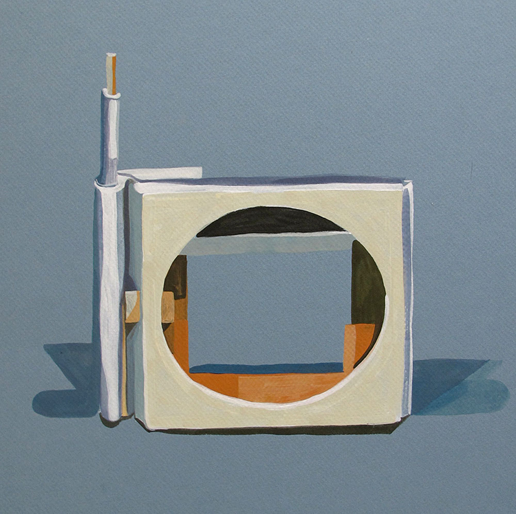 Viewfinder, gouache on paper, 2012